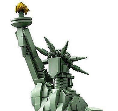 Dettaglio del volto - Lego Architecture Statua della Libertà