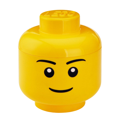 Testa contenitore ragazzo LEGO® – Grande