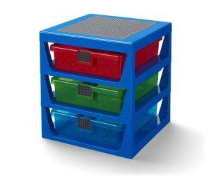 Sistema di scaffali blu trasparente LEGO®