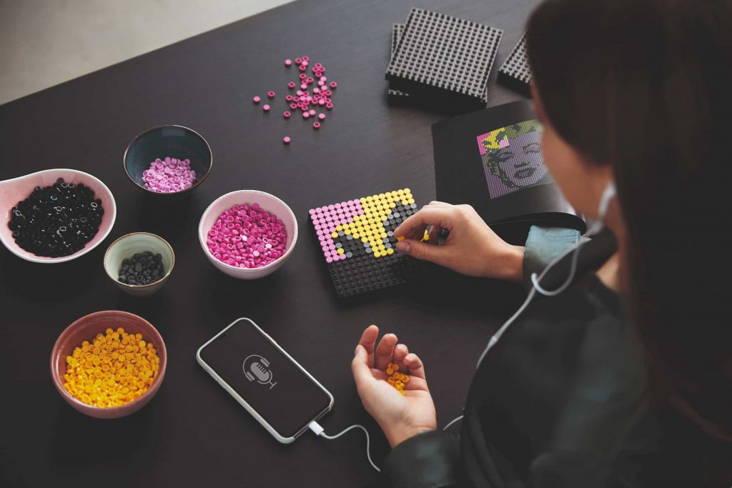 Lego Art ascoltare musica