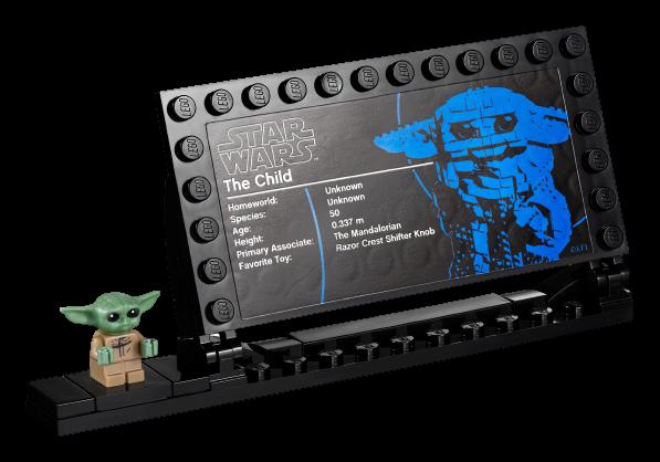 Targhetta informativa Lego Baby Yoda