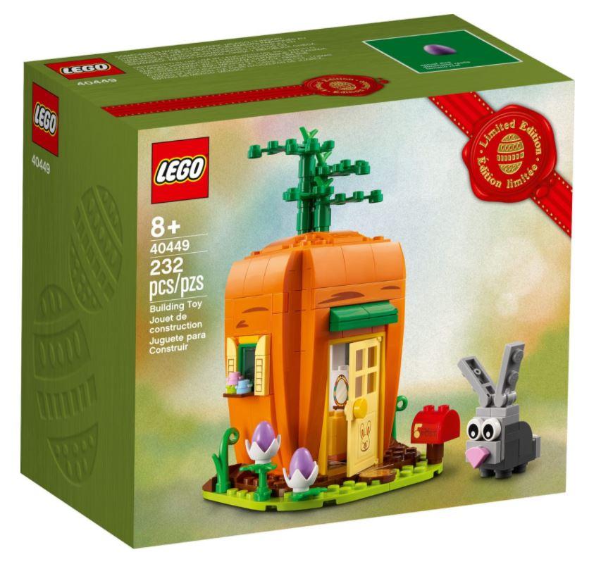 La casa-carota del coniglietto di Pasqua