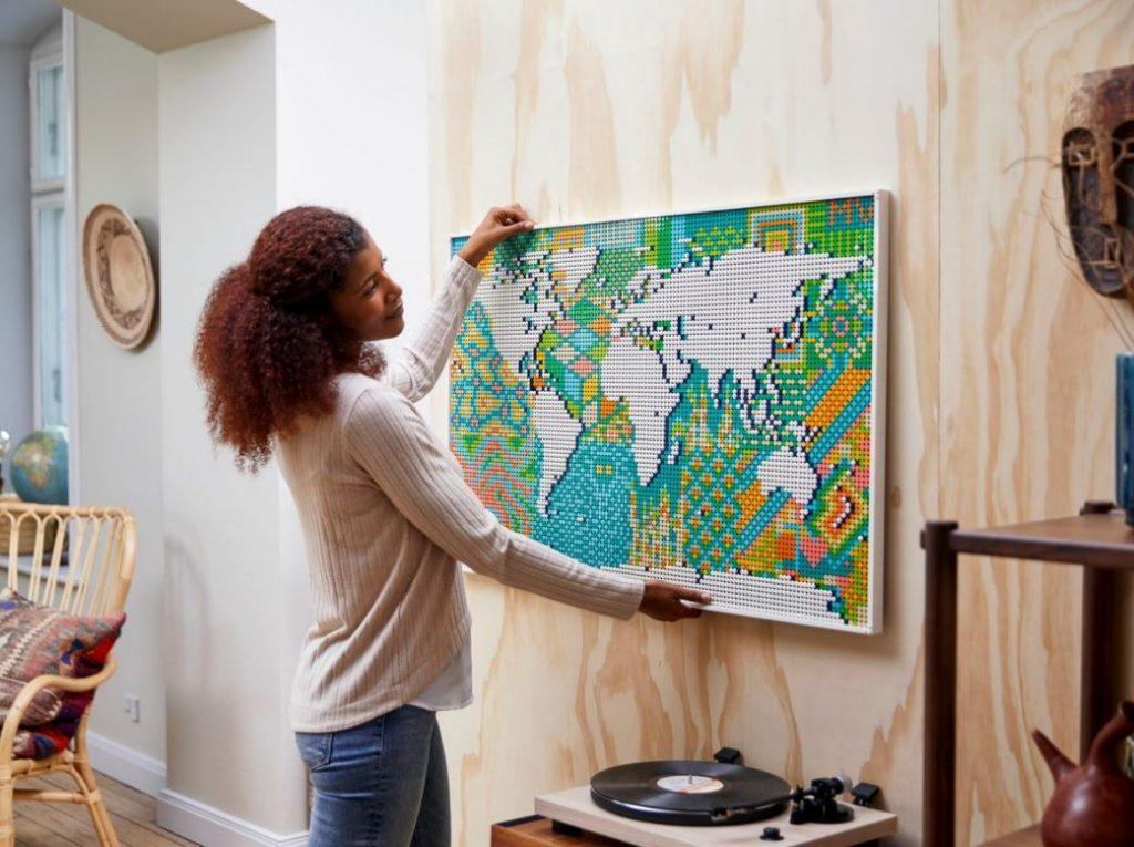 Lego Art Mappa del Mondo completato novità giugno 2021