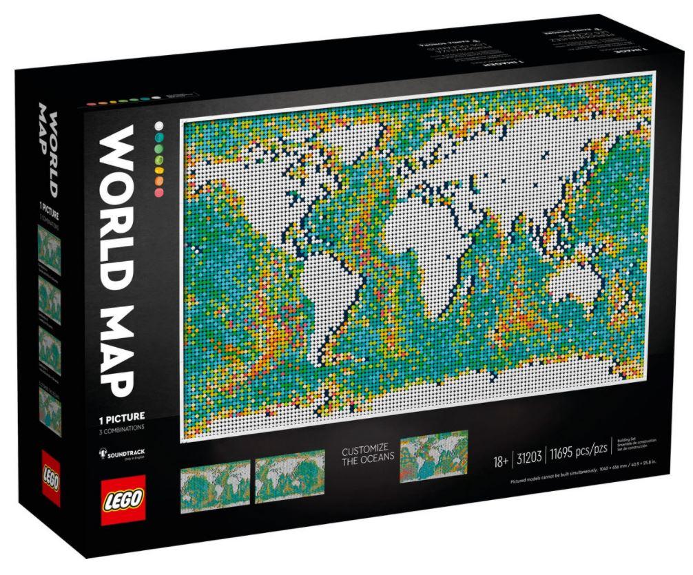 Lego Art Mappa del Mondo novità Giugno 2021