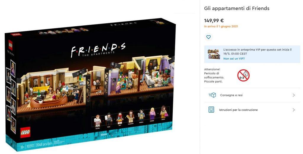 screen vendita Lego Friends appartamenti