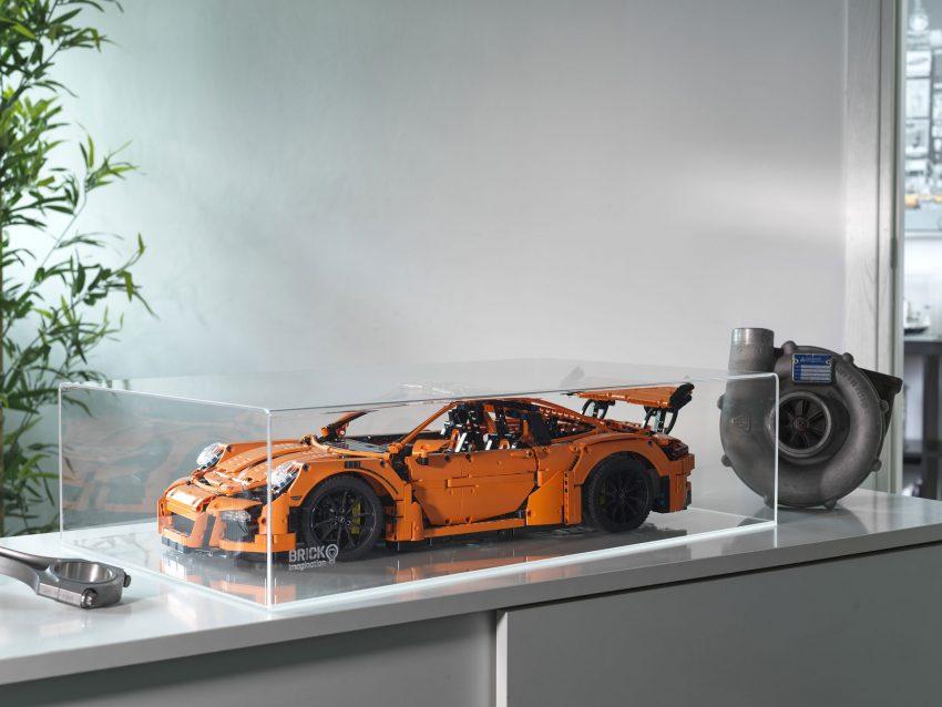 teche lego plexiglass Technic Porsche
