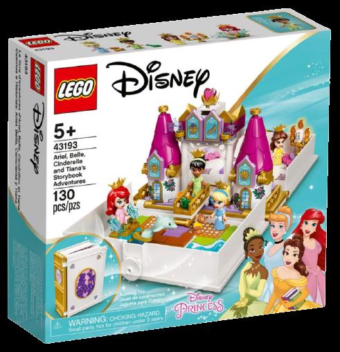 L'avventura fiabesca di Ariel, Belle, Cenerentola e Tiana novità Lego Agosto