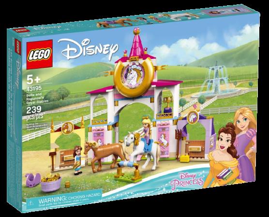 Le scuderie reali di Belle e Rapunzel novità Lego Agosto
