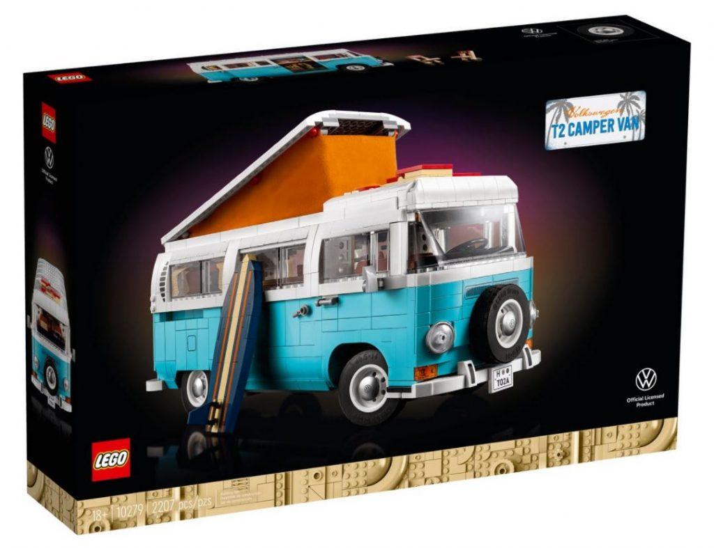 Lego Creator Camper van Volkswagen T2 novità Agosto 2021 - box