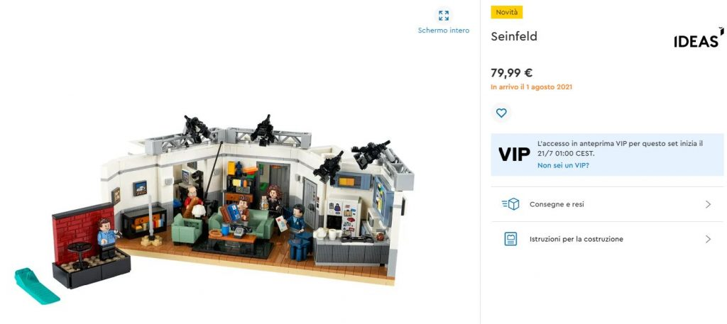 Lego Ideas Seinfeld - novità agosto 2021