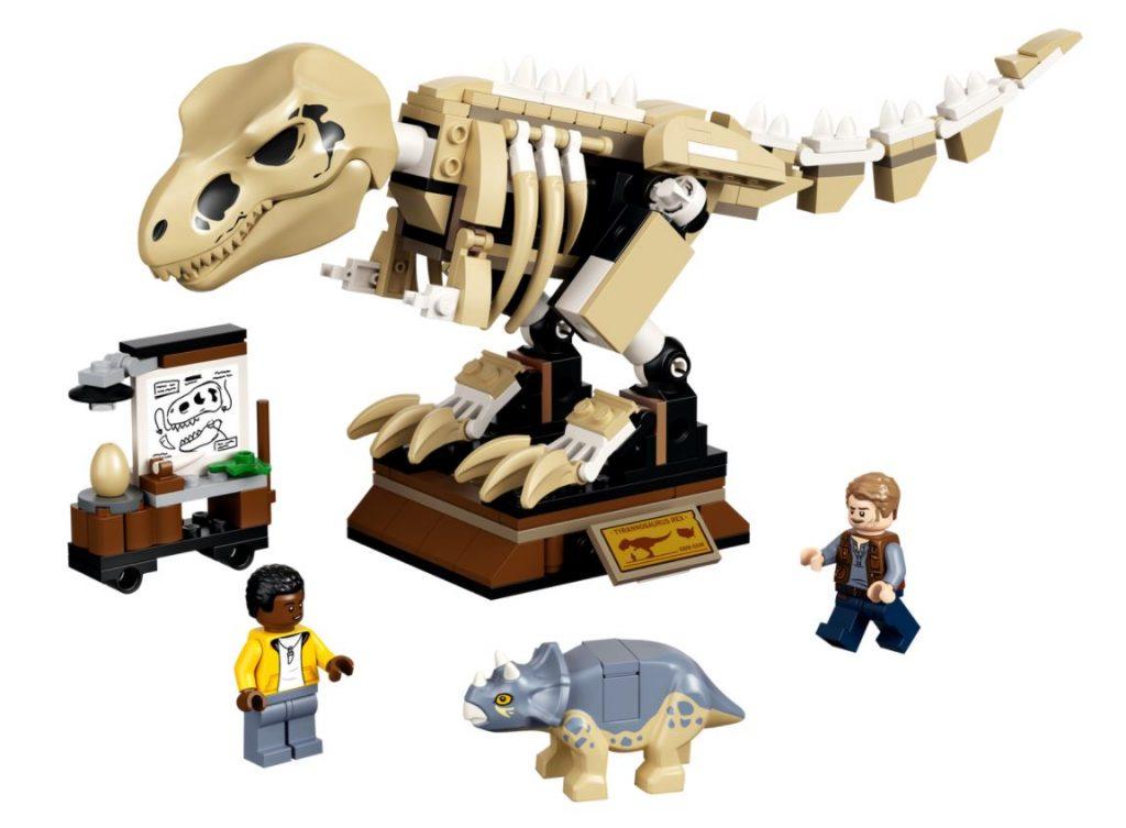 La mostra del fossile di dinosauro T. Rex