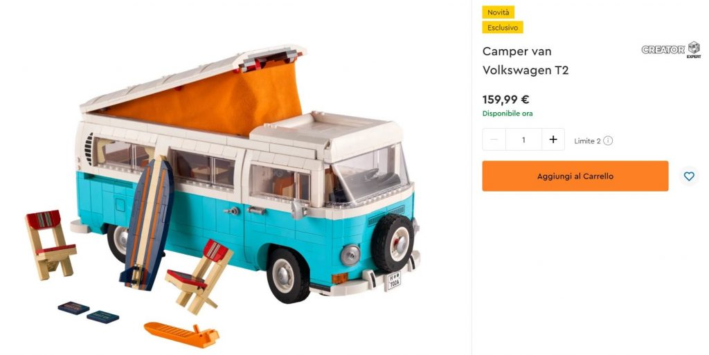 Acquista subito il Lego Creator Camper van Volkswagen T2