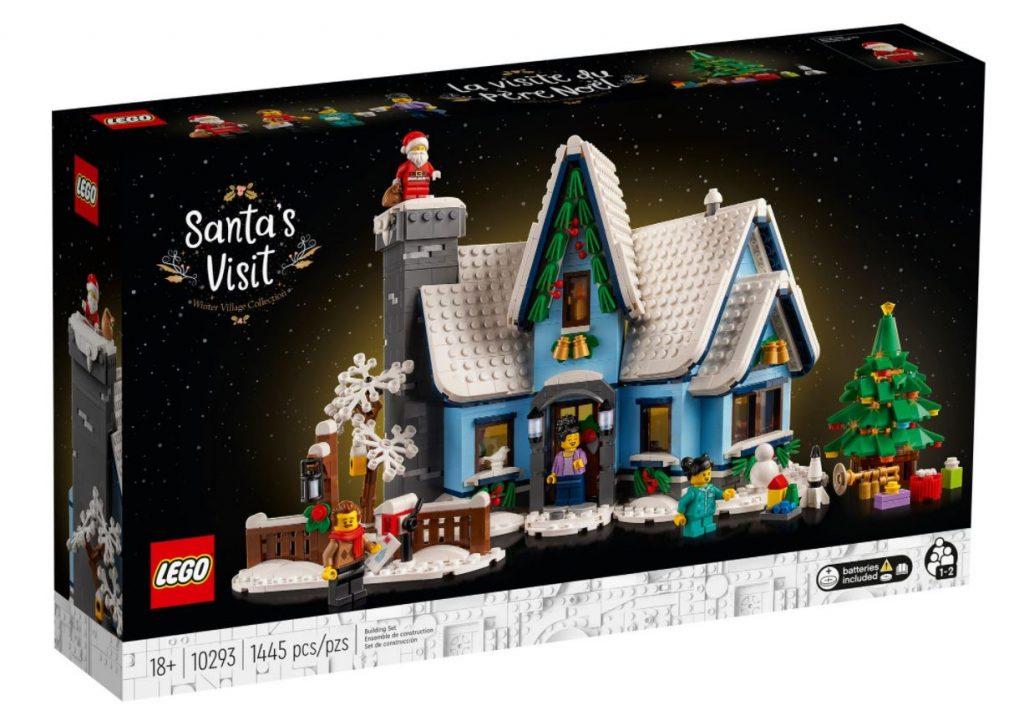 La confezione del set visita di Babbo Natale, una delle novità Lego di Ottobre 2021