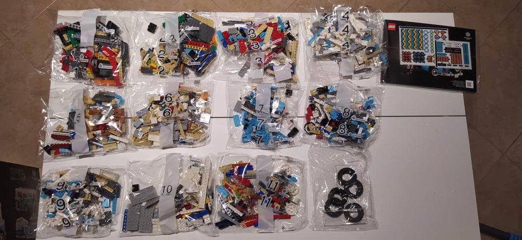 Lego Creator Camper van Volkswagen T2 bustine e manuale