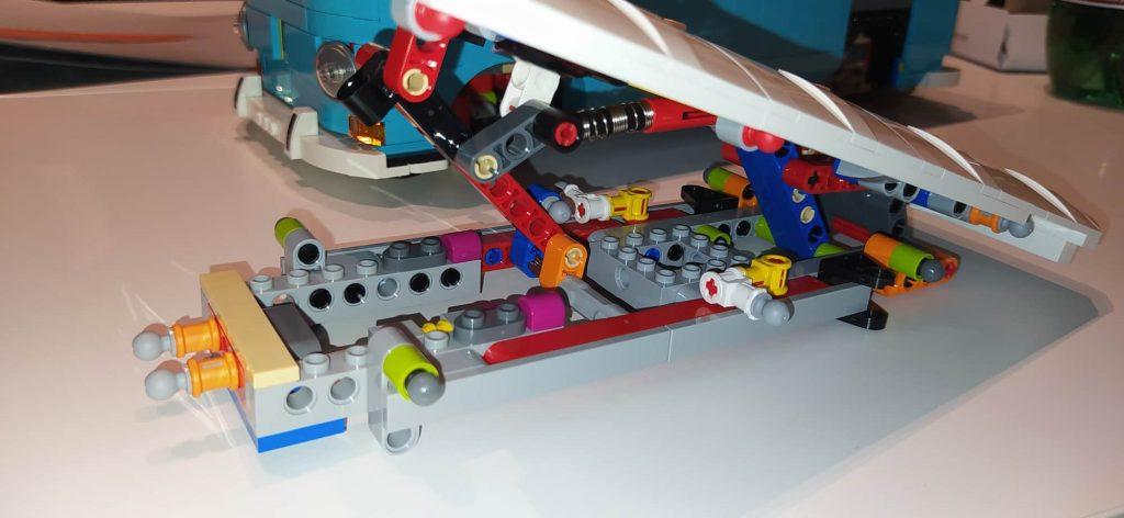 Lego Creator Camper van Volkswagen T2 meccanica tetto semovente