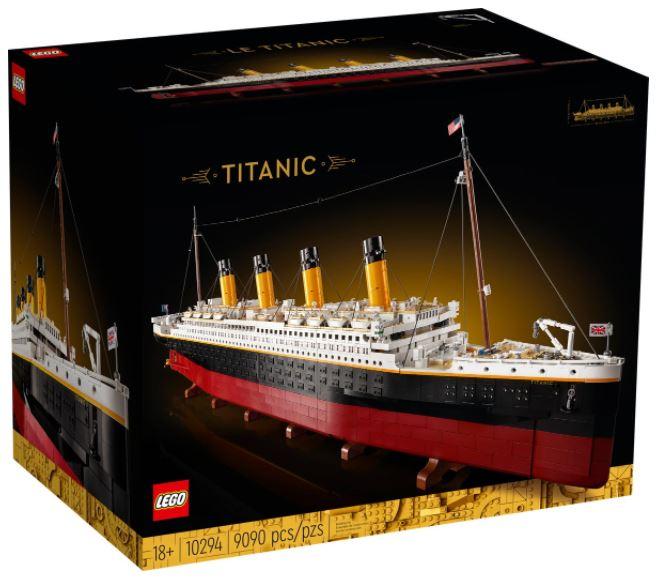 Scatola del set Lego Titanic
